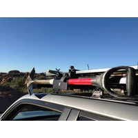 Eeziawn K9 Roof Rack Shovel Mount Bracket, can bolt to side or top of roof rack, includes provision for padlock