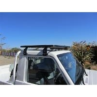 Eeziawn K9 Roof Rack suit Toyota LC 75 - 79 Single Cab Ute 0.9m long, including gutter mount legs