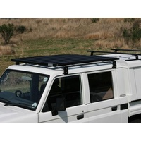 Eeziawn K9 Roof Rack suit Toyota LC 79 Dual Cab Ute 1.6m long, including gutter mount legs