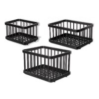 National Luna Basket Set for 55 ltr fridge, includes 2 large ABS plastic baskets and 1 small plastic basket