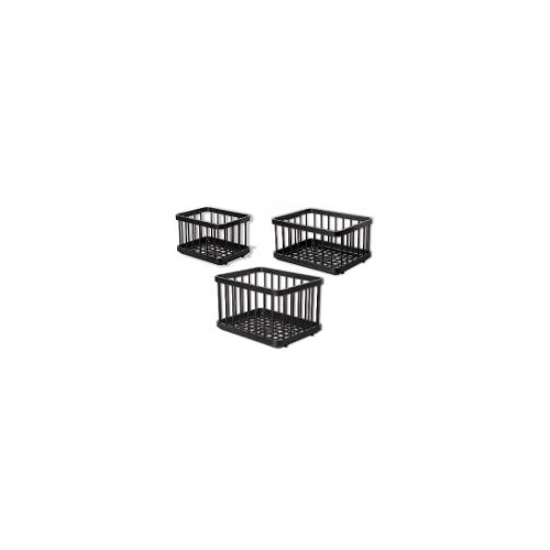 National Luna Basket Set for 60 ltr fridge, includes 2 ABS plastic baskets for freezer bin and 3 ABS plastic baskets for fridge bin