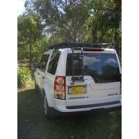 Eeziawn K9 Ladder suit Land Rover Discovery 3 - 4 LH Rear Mount to access roof rack.  Aluminium.