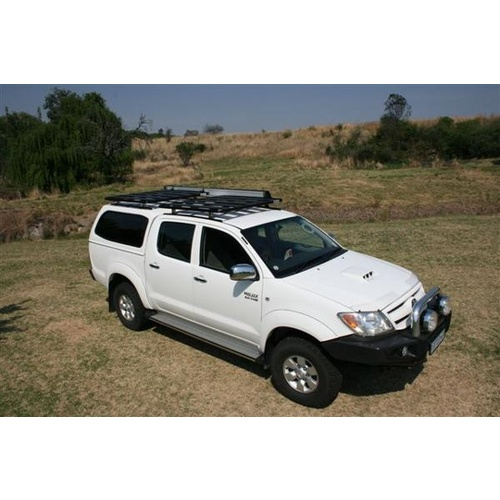 Eeziawn K9 Roof Rack suit Hilux 05 onwards dual cab 1.4m long, track mount assembly